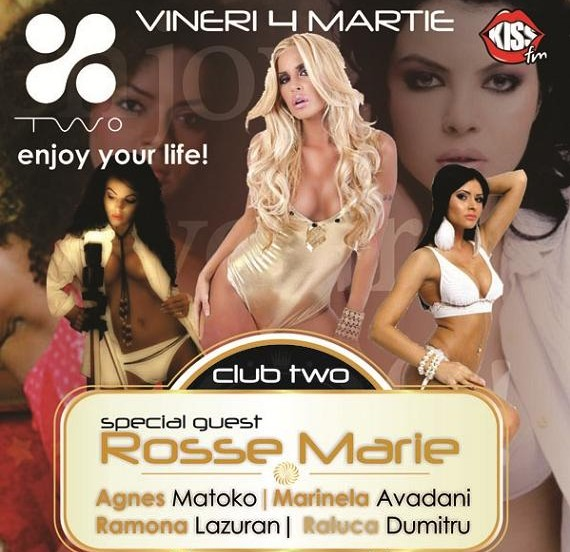 PARTY: Rosse Marie vineri 4 martie in club TWO