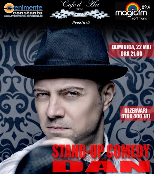 Stand-up Comedy – Dan Badea in Cafe d'Art duminica 22 mai