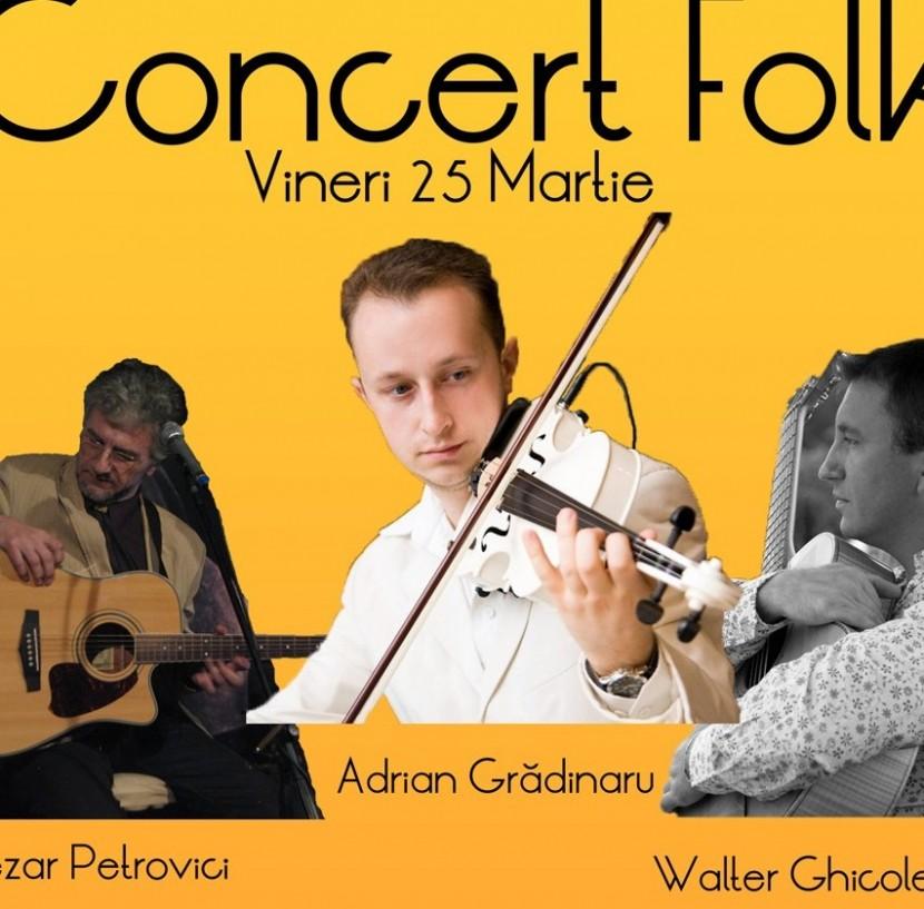Concert FOLK la Bebe, vineri 25 martie