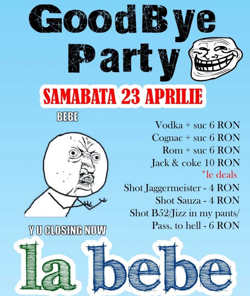 Goodbye Party la Bebe