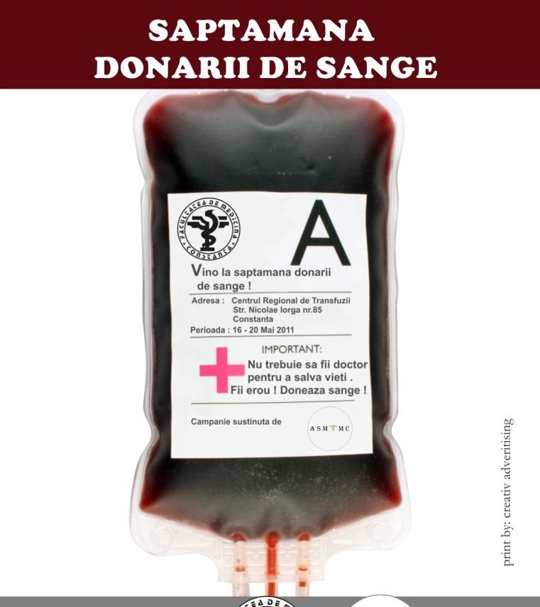 Campanie de donare de sange