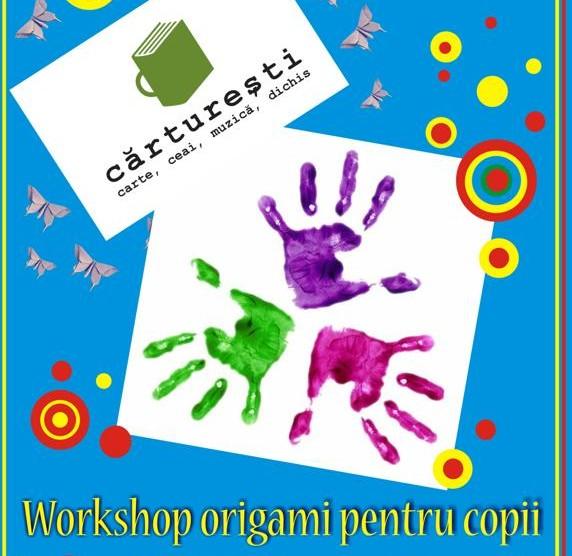 Workshop origami pentru copii la Carturesti