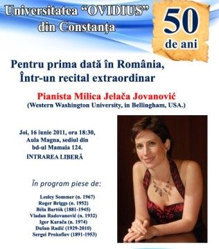 Recital: pianista  Milica Jelača Jovanović