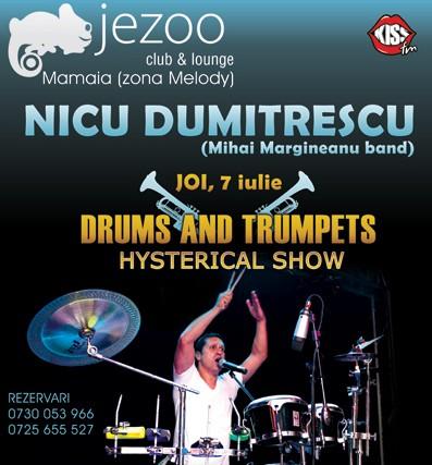 Drums & Trompets cu Nicu Dumitrescu (Margineanu's Band) in Jezoo