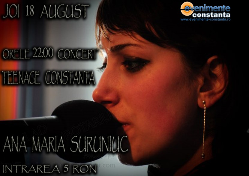 Concert Folk cu Ana Maria Suruniuc