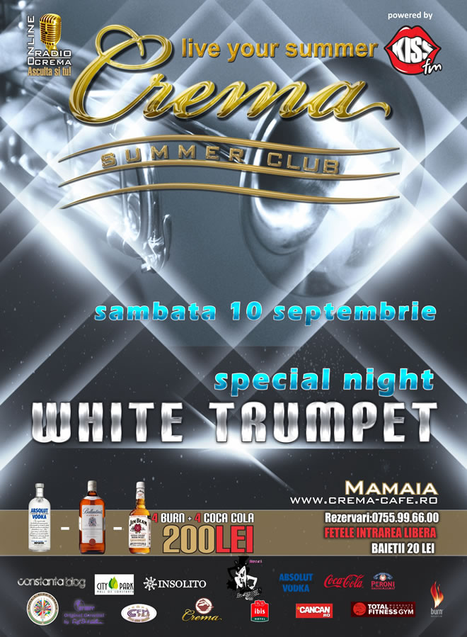 White Trumpet in Crema Summer Club