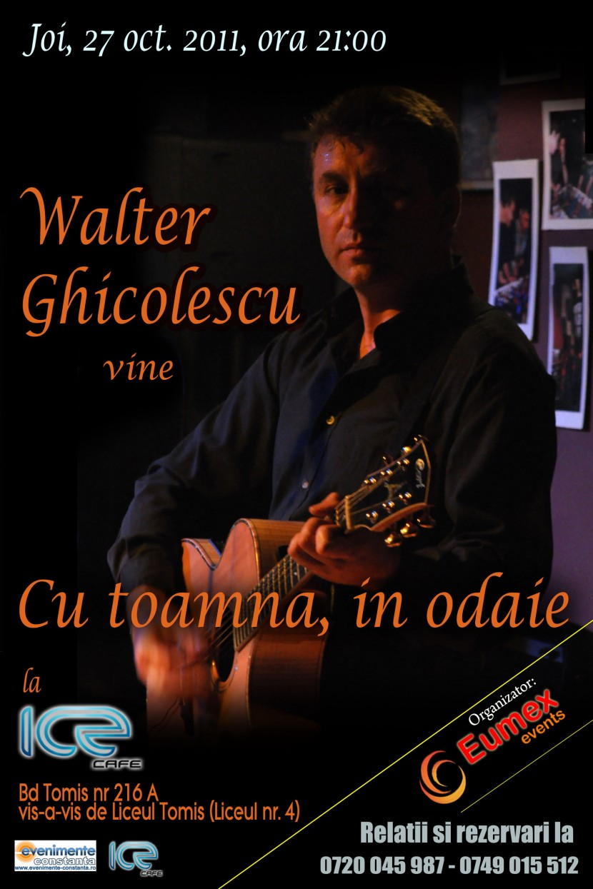 Concert Walter Ghicolescu – Cu toamna in odaie
