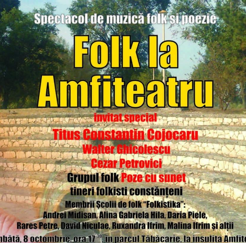 Folk si poezie pe Insulita Amfiteatru din Tabacarie