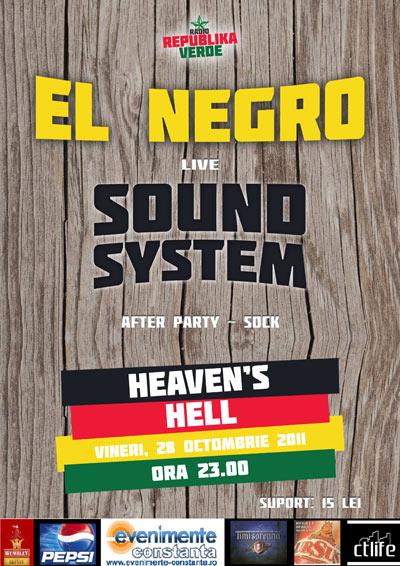 Concert El Negro in Haven's Hell
