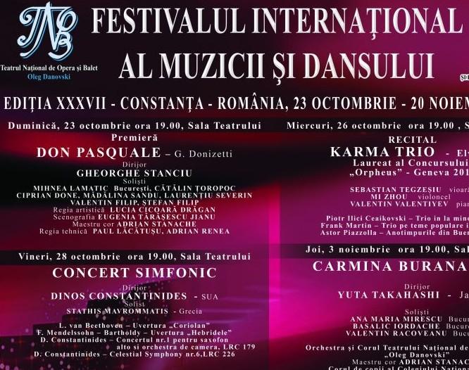 Festivalul International al Muzicii si Dansului, la TNOB Oleg Danovski