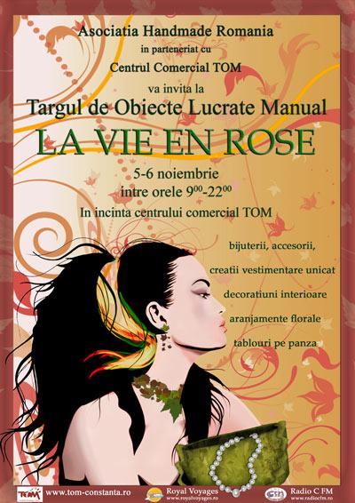 """Targ de produse handmade """"La vie en rose"""""""
