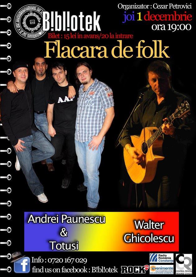 De ziua romanilor te intalnesti cu FLACARA DE FOLK