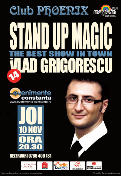 Castigatorul invitatiei duble la STAND-UP MAGIC cu Vlad Grigorescu