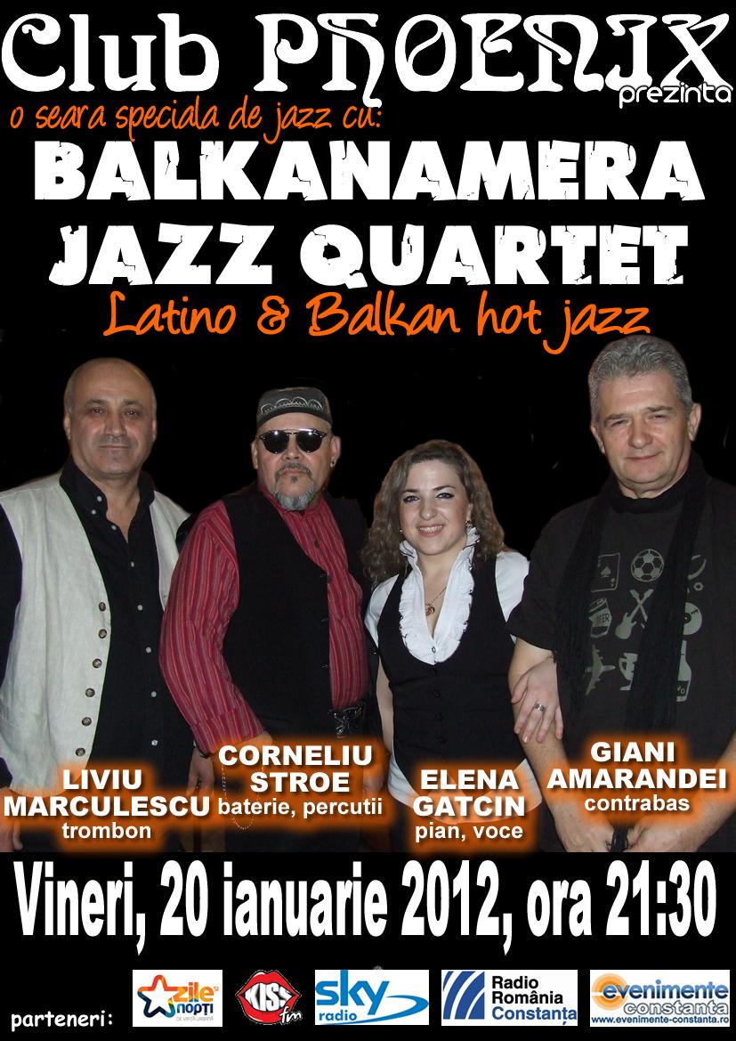 Balkanamera Jazz Quartet in club Phoenix