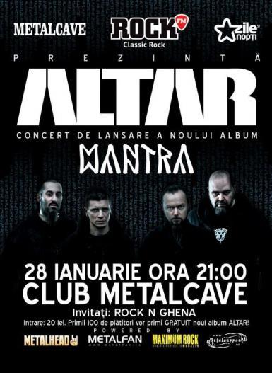 Concert si lansare album ALTAR