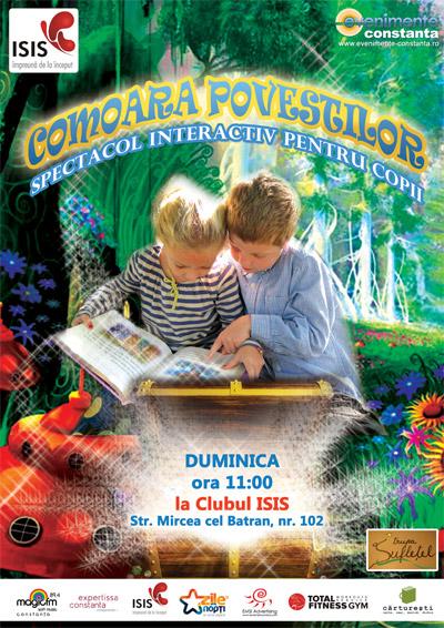 COMOARA POVESTILOR, spectacol interactiv pentru copii