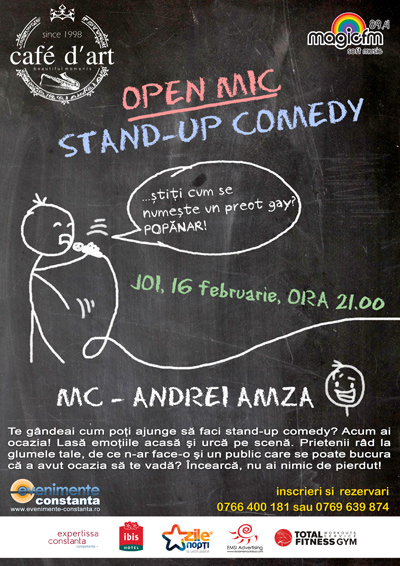 OPEN MIC Stand-up Comedy la Cafe d'Art