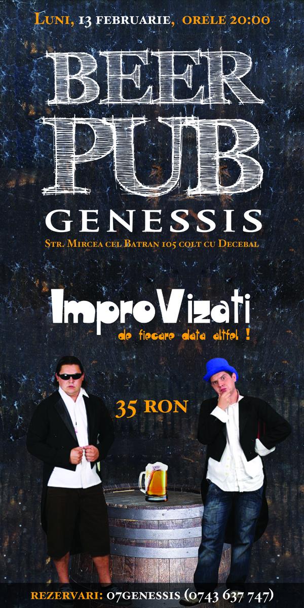 Spectacol de improvizatie cu membrii Serviciul Roman de Comedie