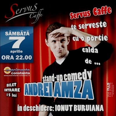 Stand-up Comedy cu ANDREI AMZA in Servus Cafe