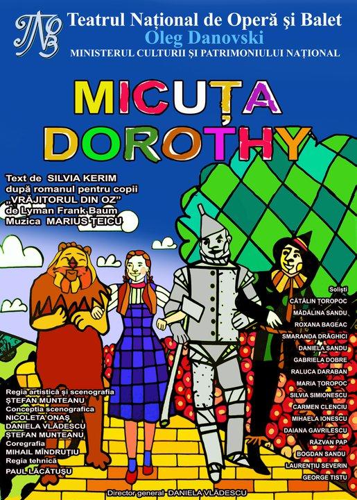 Spectacol pentru copii: Micuta Dorothy la TNOB