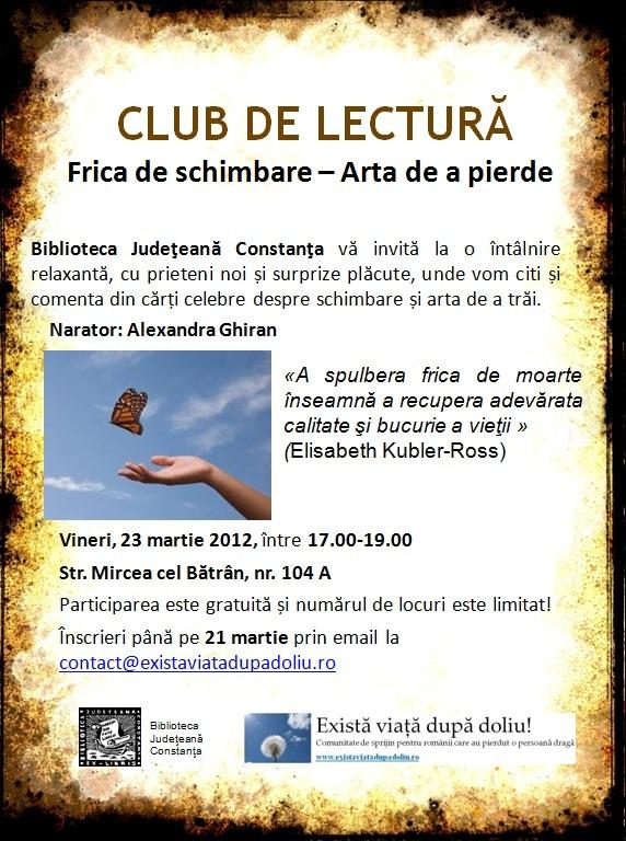 Club de lectura la Biblioteca Judeteana Constanta