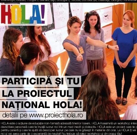 HOLA! workshop de dezvoltare personală pentru liceeni