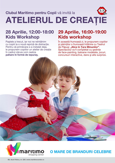 Atelier de creatie pentru copii in MARITIMO