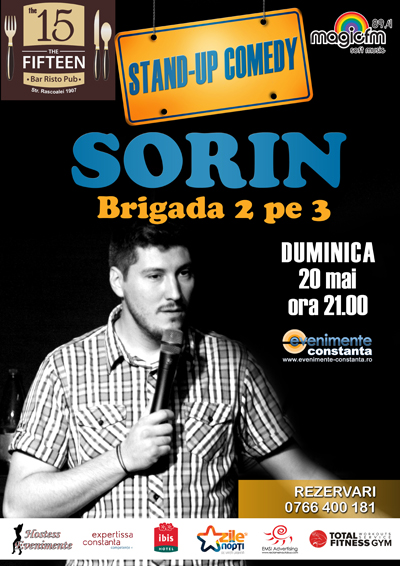 Castiga o invitatie dubla la stand-up comedy cu SORIN