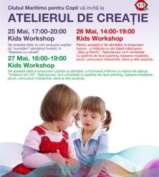 Atelierul de creatie pentru copii la Maritimo