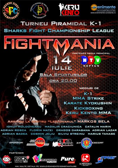 Bilete pentru FIGHTMANIA, puse în vânzare la Pure Fitness