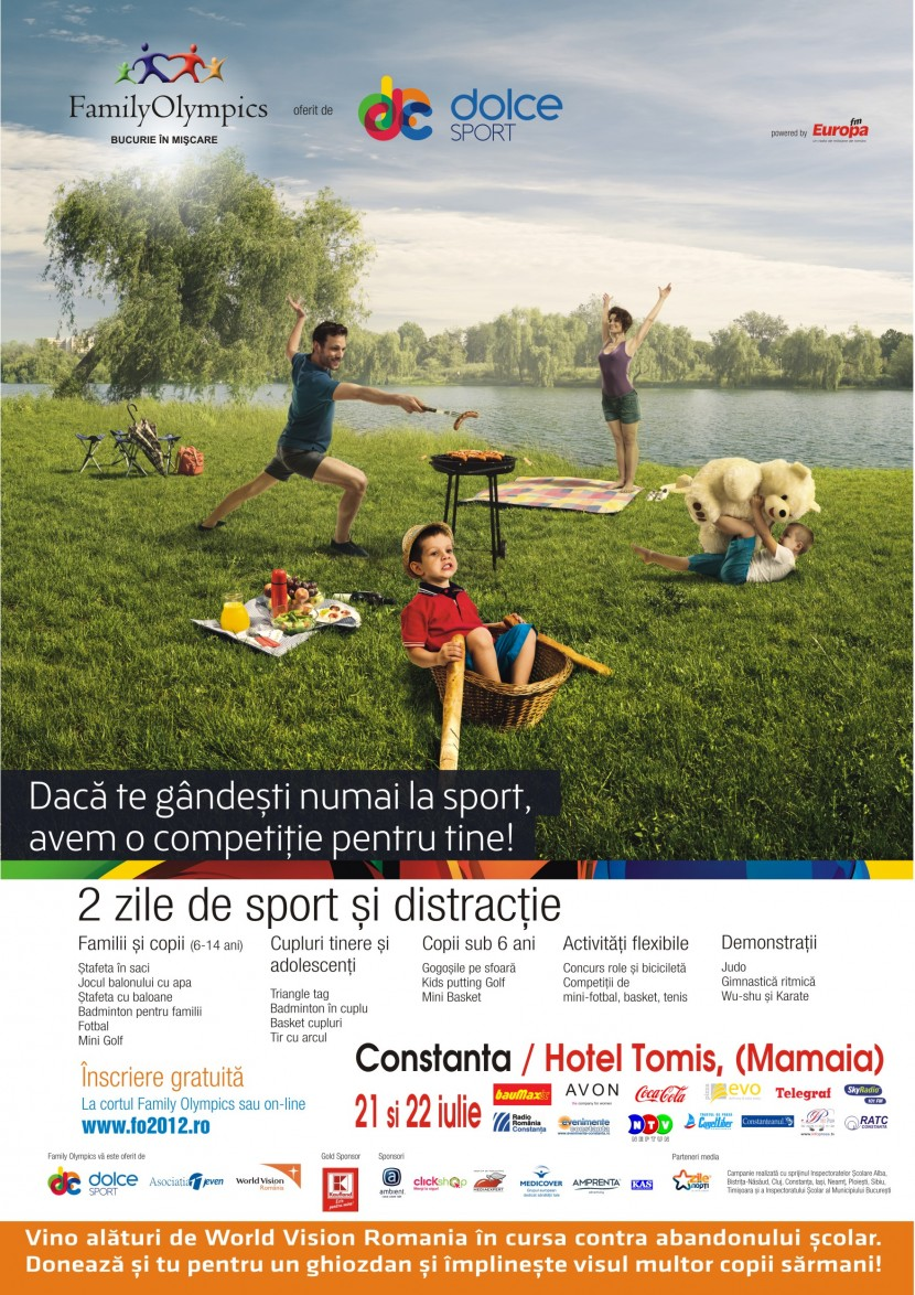 FAMILY OLYMPICS, competitii sportive si distractie pentru intreaga familie