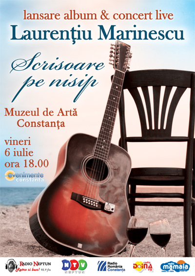 """Lansare album Laurenţiu Marinescu, """"Scrisoare pe nisip"""""""