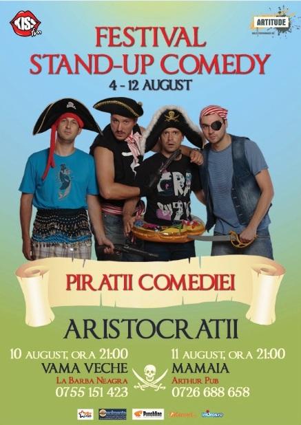 Trupa ARISTOCRATII la Festivalul de Stand-up Comedy in Arthur Pub Mamaia