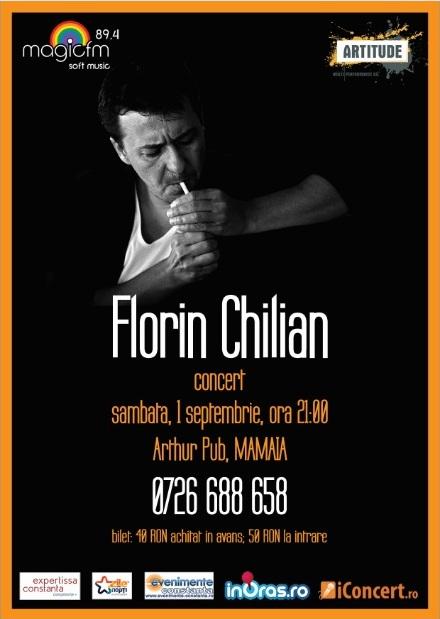 Castigator INVITATIE 2 PERSOANE la concertul Florin Chilian