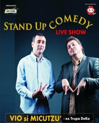 CONCURS: Castiga o invitatie dubla la stand-up comedy cu VIO si MICUTZU