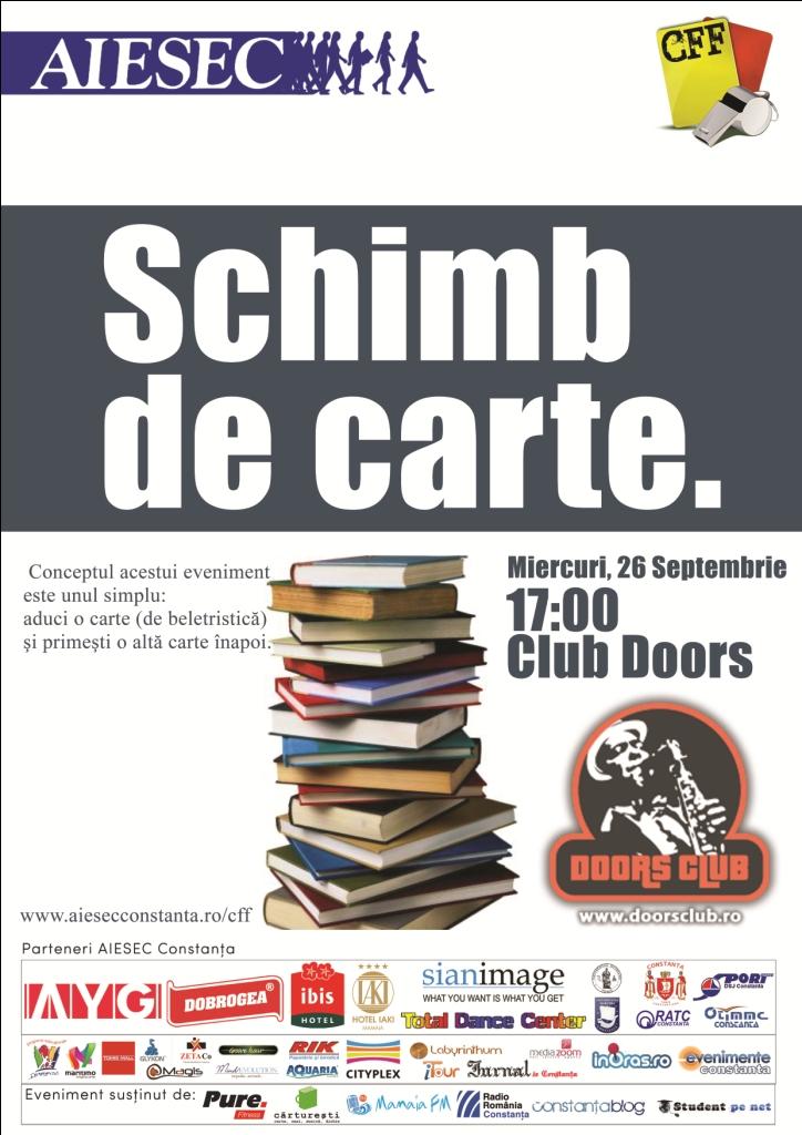 Schimb de carte, eveniment cultural organizat de AIESEC Constanta