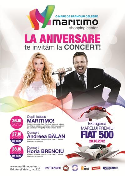 Concerte aniversare 1 an de MARITIMO
