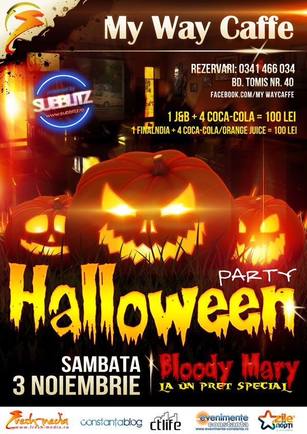 Halloween Party in My Way Caffe