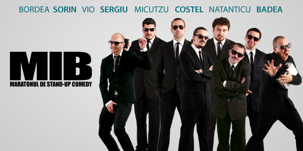 Maratonul de Stand-up Comedy MEN IN BLACK la Casa de Cultura Constanta