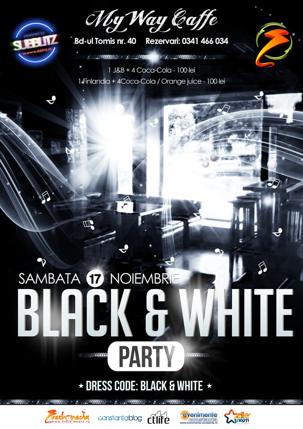 Black & White Party in My Way Caffe