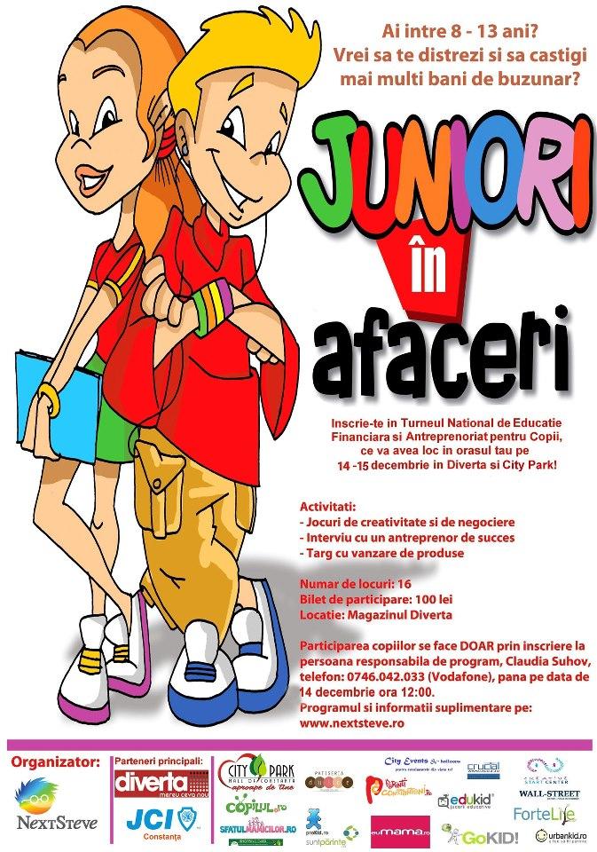 """""""Juniori in afaceri"""" – proiectul care dezvolta antreprenoriatul la copii de 8 – 13 ani"""