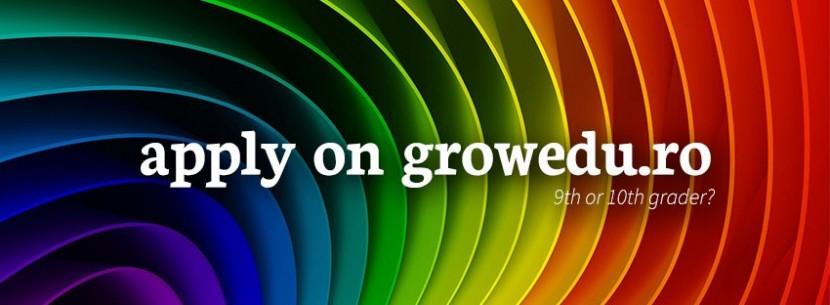 Au început înscrierile pentru GROW – proiect educațional pentru elevii de liceu!