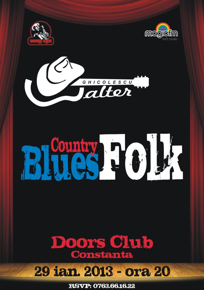 Concert country-folk-blues cu Walter Ghicolescu in Club Doors