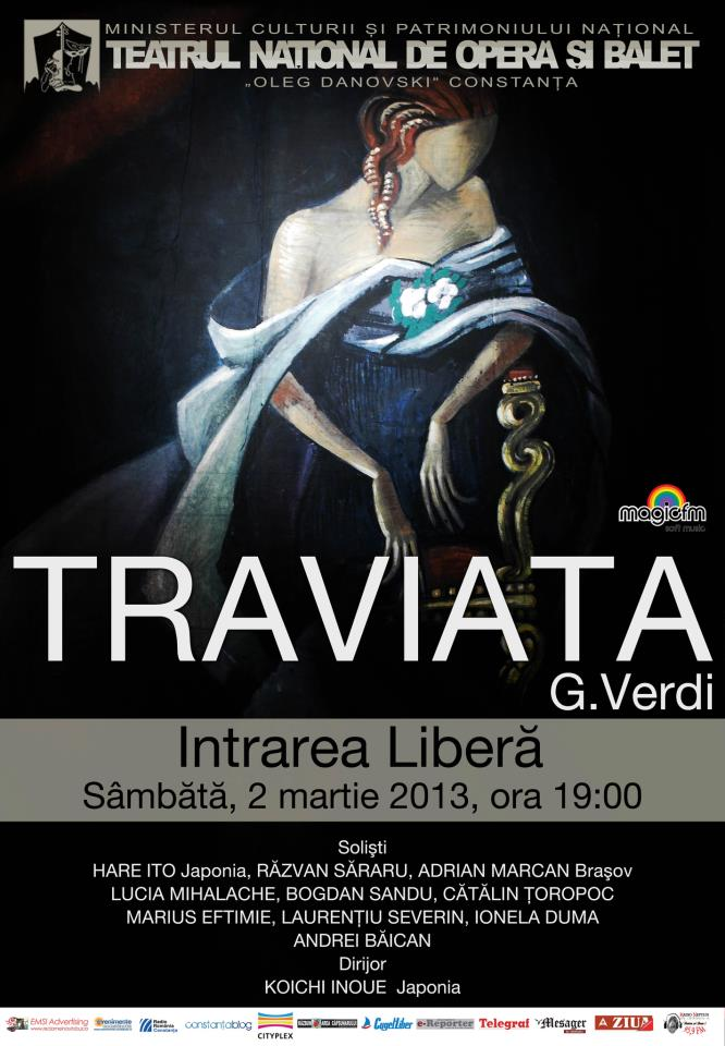"""""""La Traviata"""" la TNOB Oleg Danovski – intrare libera!"""