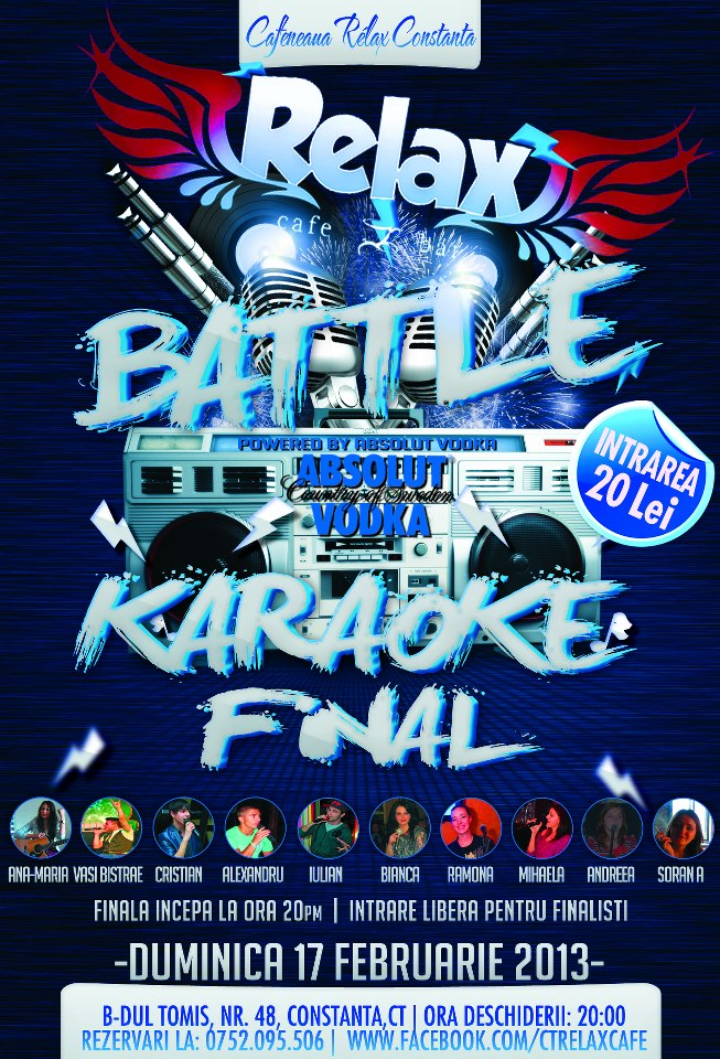 Battle Karaoke Final in Relax Cafe (finala concursului)