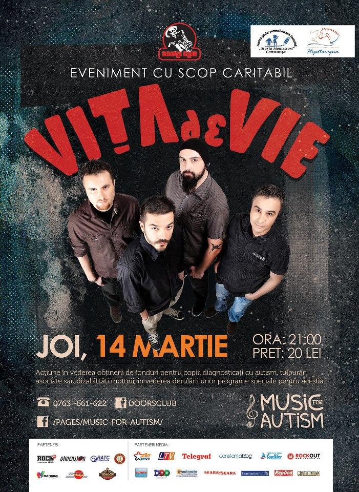 Concert caritabil VITA DE VIE in club Doors