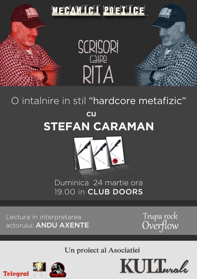 """""""Scrisori catre Rita"""" cu Stefan Caraman in Club Doors"""