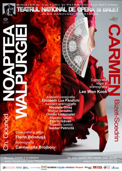 """""""Carmen"""" şi """"Noaptea Valpurgiei"""" în aceeași seară la TNOB """"Oleg Danovski"""""""