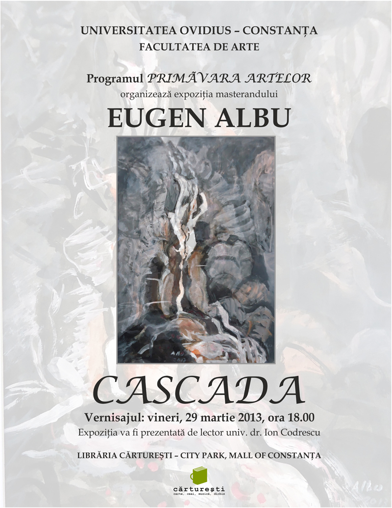 Vernisaj CASCADA cu Eugen Albu la Carturesti