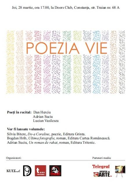 POEZIA VIE – recitaluri poetice si lansari de carte in Club Doors